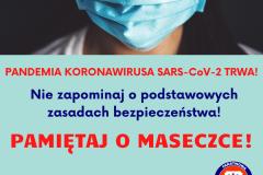 PANDEMIA KORONAWIRUSA SARS CoV-2 TRWA!